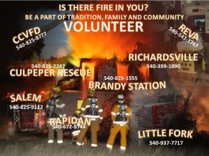 Fire and rescue volunteer recruitment flyer