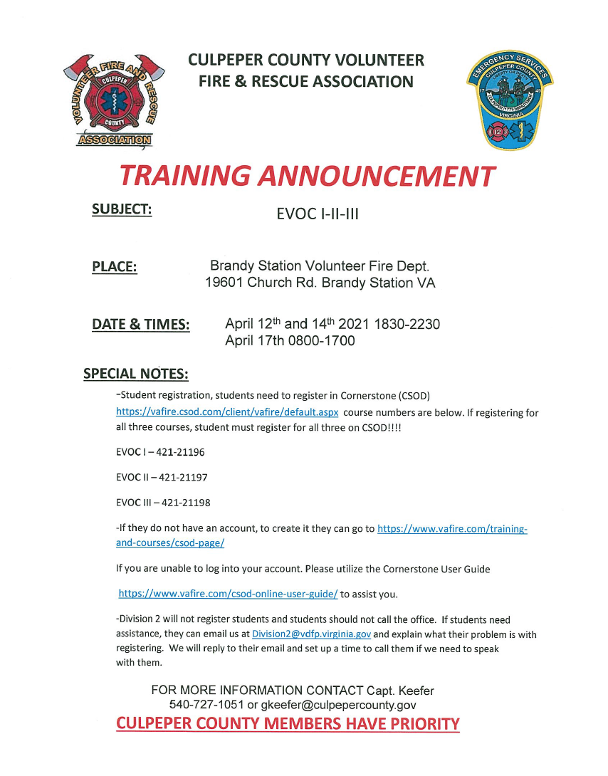 EVOC Training April 2021